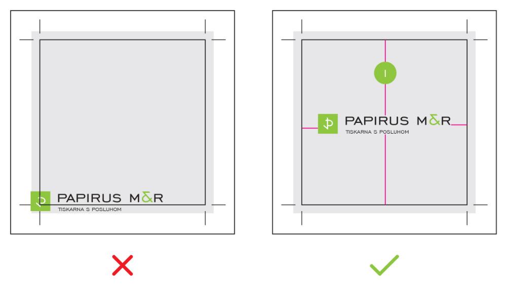 varno območje tiskanja